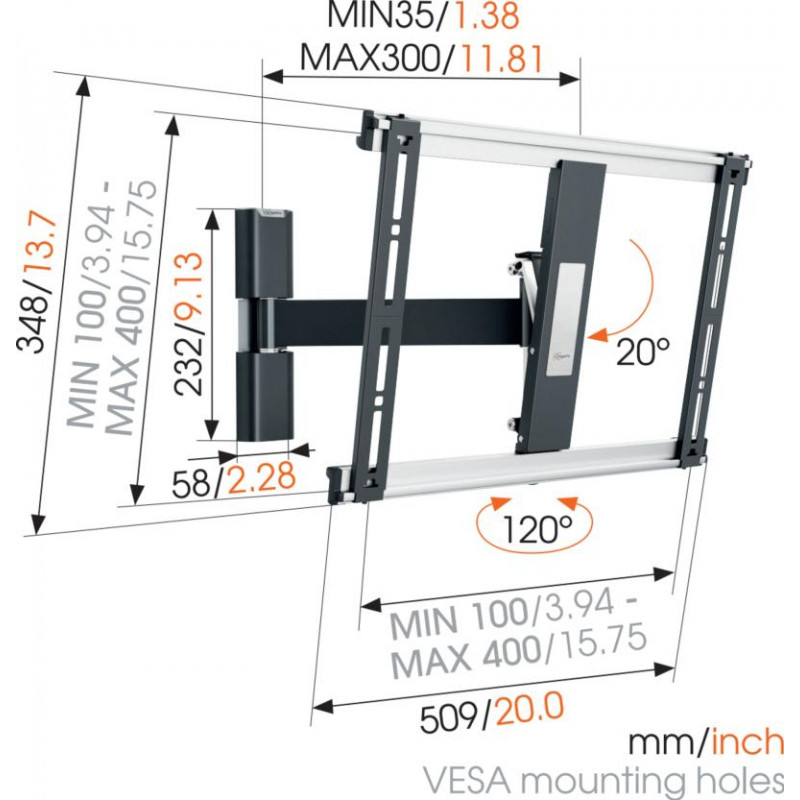 Fixation murale fixe 32-55p VOGEL S THIN425