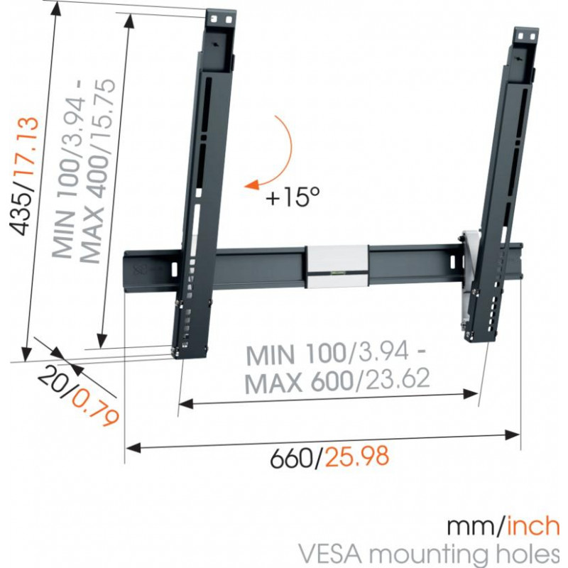 Support tv 40-65p VOGEL S THIN515