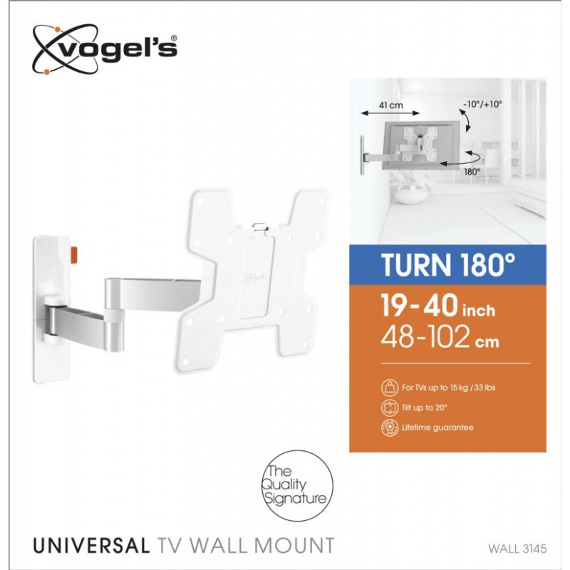 Support tv inclinable 19-40p VOGEL S WALL3145WHITE