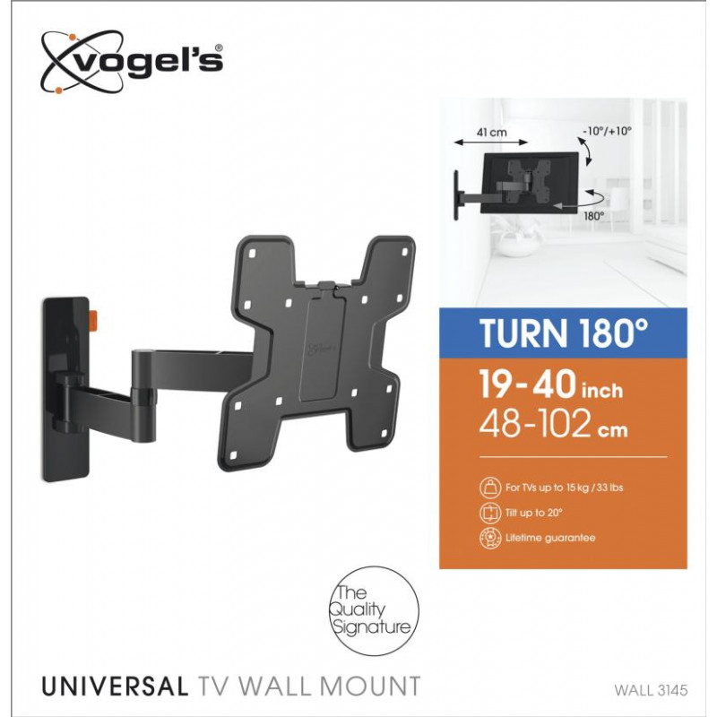Support tv inclinable 19-40p VOGEL S WALL3145BLACK