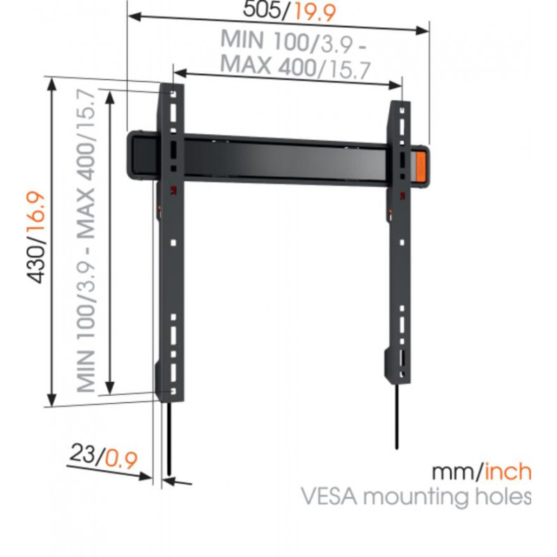 Support tv fixe 32-55p VOGEL S WALL3205