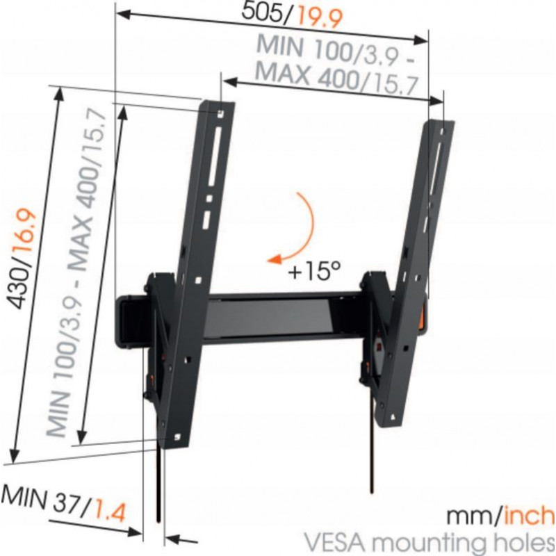 Support tv inclinable 32-55p VOGEL S WALL3215