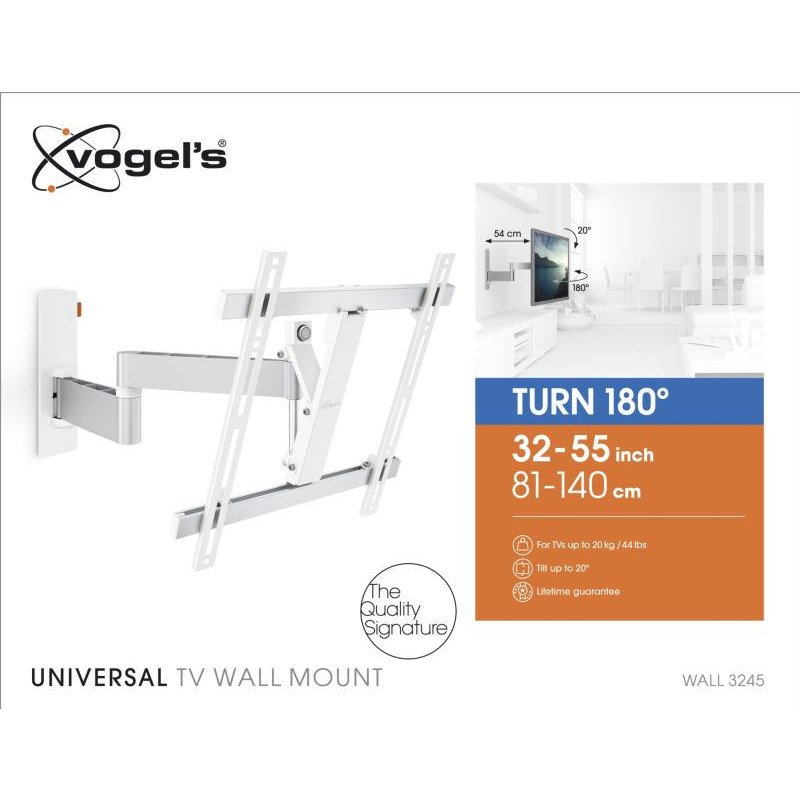 Support tv orientable 32-55p VOGEL S WALL3245WHITE